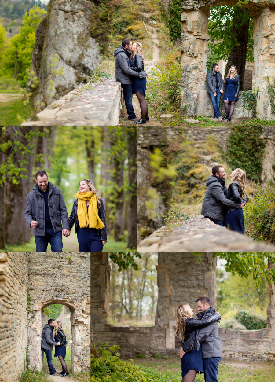Photos de couple aux ruines du Morimont