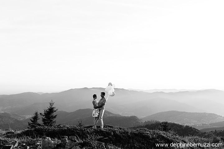 Photos de couple en montagne